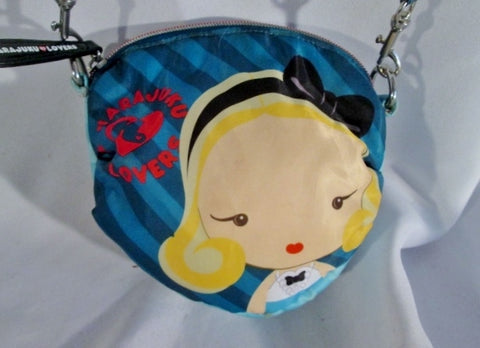 HARAJUKU LOVERS GWEN STEFANI Mini Leather Purse Crossbody Bag Pouch BLUE GIRL