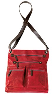 SHIRALEAH Chicago HARPER RED CROSS BODY BAG Vegan shoulder purse RED BERRY