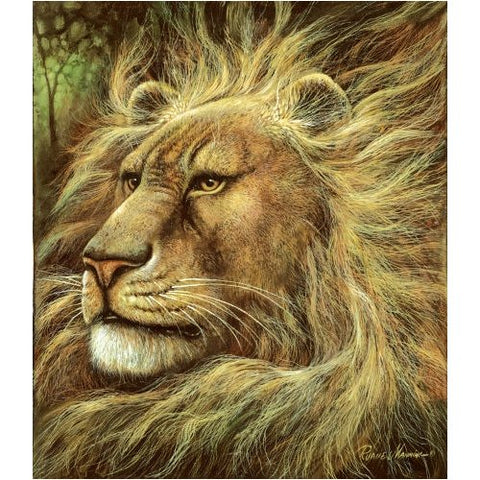 EMINENT DOMAIN RUANE MANNING 550 Piece JIGSAW PUZZLE LION Animal Jungle 59011