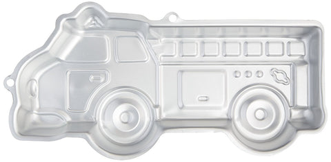 "NEW 16"" x 9"" WILTON LITTLE FIRE TRUCK Cake PAN Mold Baking Birthday Special Event"