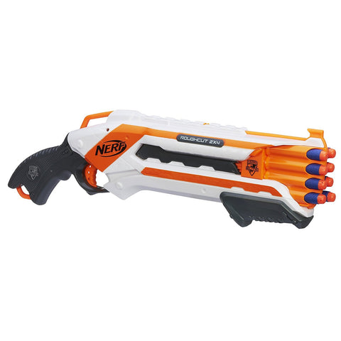 NERF Mega ROUGHCUT 2X4 Blaster Toy Outdoor Fun Play Party Boy Game WORKS!
