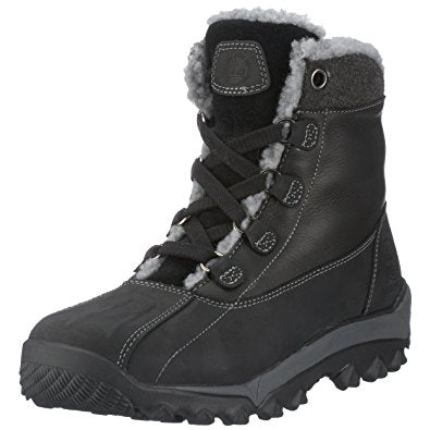 Mens TIMBERLAND 93102 WOODBURY SHEARLING Snow Rain Duck Boots Winter BLACK 8.5 Shoes