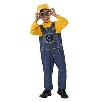 NEW Kids DESPICABLE ME MINION BOB Costume Set Halloween 8-10 Cosplay Disguise Unisex