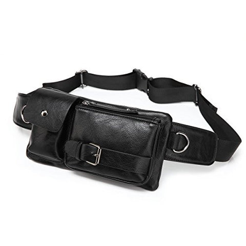 BAOSHA Running Bumbag Fanny Pack Waist Belt Bag Waist Running Sack BLACK Vegan