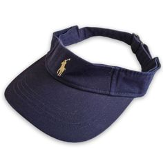 NEW POLO RALPH LAUREN Visor U.S. OPEN 2005 Blue cap hat shade Sunshade NWT
