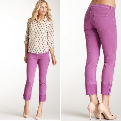 CURRENT/ELLIOTT BEATNIK FADED PURPLE Skinny Jean Pant 27