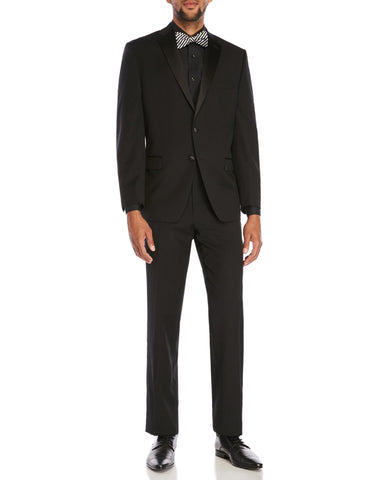 NEW Mens CALVIN KLEIN MYER Tuxedo Jacket Suit Pant 39R BLACK 2 Pc Formal Wedding NWT