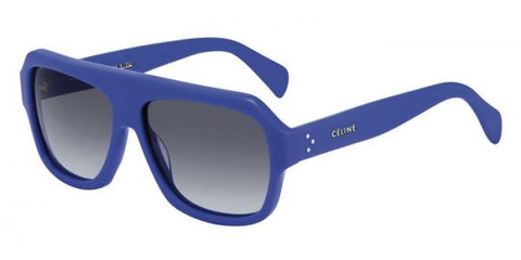CELINE PARIS BLUE Acrylic SUNGLASSES 41806 ITALY w Case