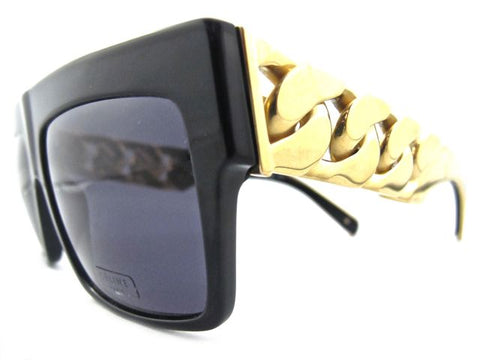 NEW CELINE PARIS CHAIN SUNGLASSES 41019 BLACK GOLD - RARE!