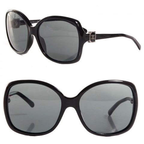 Womens CHANEL ITALY 5174 BLACK Frame Gradient Tint Sunglasses + Case
