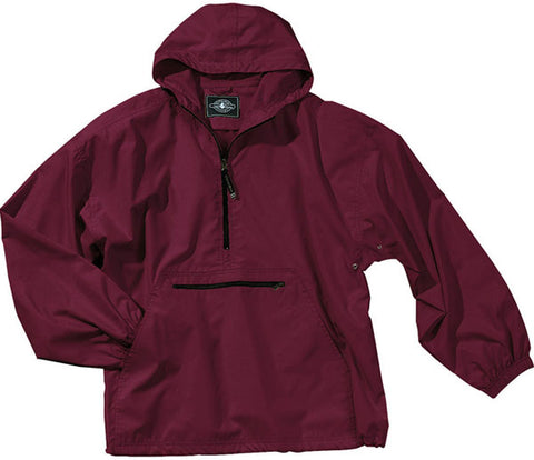 NEW Womens CHARLES RIVER APPAREL Pack-N-Go JACKET L Coat Maroon Red