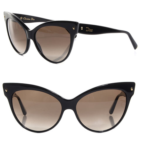 CHRISTIAN DIOR ITALY LES MARQUISES Cat's Eye SUNGLASSES BLACK