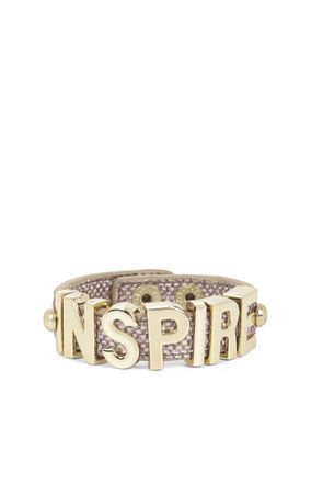 NEW NWT BCBGeneration AFFIRMATION INSPIRE IRIDESCENT Woven Bracelet Arm Band Jewelry Cuff TAN