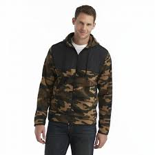 NEW NWT Mens ATHLETEC SUPREME FLEECE HOODIE JACKET Coat BROWN CAMO M