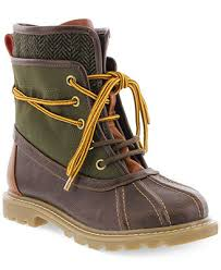 NEW Toddler TOMMY HILFIGER KIDS CHARLES DUCK HIKING Boots 12 BROWN OLIVE