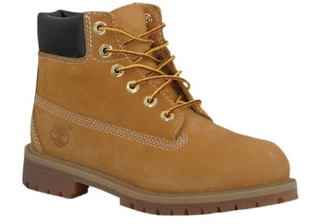 Junior Boys TIMBERLAND 12909 Junior 6 INCH PREMIUM Boot Leather 7 WHEAT NUBUCK BROWN