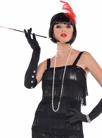 Adult Women's 1920s Flashy Flapper Gangster Moll Halloween Fancy Dress Costume S