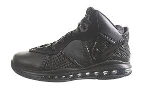 Mens NIKE AIR MAX LEBRON 8 VIII Hi Top Leather Boots BLACK 9.5 Basketball Sneaker