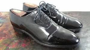 NEW Mens ENGLISH BROOKS BROTHERS CURZON England Shoes Wingtip Oxford BLACK 8.5 Patent Leather Dress Derby