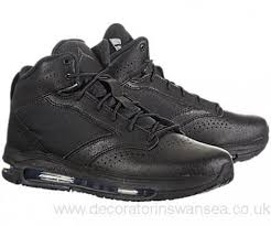 Mens JORDAN CITY AIR MAX 467811-001 Hi-Top Basketball Sneaker BLACK 9.5