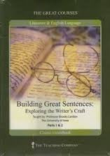 Great Courses BUILDING GREAT SENTENCES:  EXPLORING WRITER'S CRAFT DVD Set Teaching Company