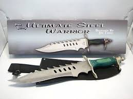 NEW FROST CUTLERY ULTIMATE STEEL WARRIOR Fixed Blade Knife w Sheath GREEN 17-952GW