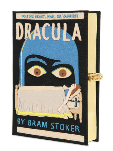 NWT New OLYMPIA LE TAN DRACULA Book Clutch Purse Bag HANDMADE Box Rare