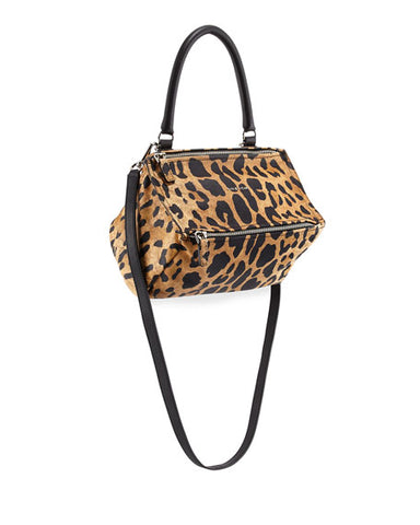 NEW GIVENCHY PANDORA Suede Small Bag Satchel Purse LEOPARD Cheetah