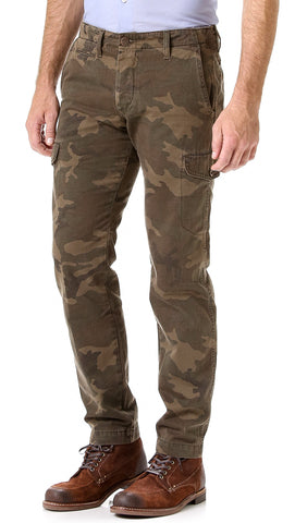 NEW MENS GROWN & SEWN USA 36 X 32 CADET CARGO CAMO Jeans Pants Fatigues