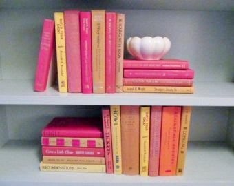 Books By The Foot Box Instant Library Home Interior Design Color Therapy RED ORANGE AUTUMN