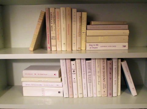 Books By The Foot Box Instant Library Home Interior Design CREME WHITE Mix Color Therapy