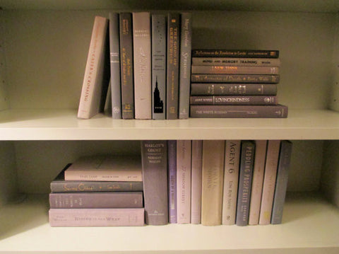 Books By The Foot Box Instant Library Home Interior Design BEIGE GRAY Mix Color Therapy GREIGE