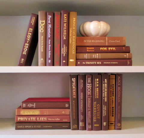 Books By The Foot Box Instant Library Home Interior Design BROWN Color Therapy