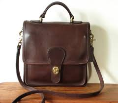 COACH 5130 Leather STATION Handbag Satchel Purse Shoulder Crossbody Bag BROWN