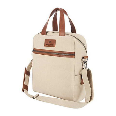 MACLAREN GRAHAM TOTE changing diaper bag carryall leather crossbody KHAKI TAN