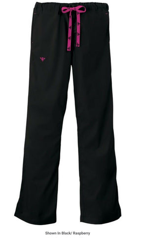 NEW NWT MED COUTURE SCRUBS E-Z FLEX  PANTS Nurse 2XL BLACK Drawstring
