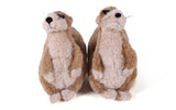NEW Kids Childrens MEERKAT Booties Slippers Sweater Faux Fur BROWN PLUSH M