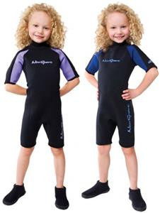 Kids Boys Girls Unisex NEOSPORT S620CB Shorty Wetsuit Diving Suit Swim 4 BLACK