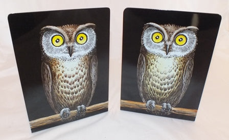 Set NEW FORNASETTI MILANO OWL ITALY Metal BOOKEND Organizer BOOK END HOLDER Bird