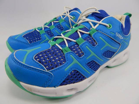 Womens SPEEDO Comfort Water Shoes Aqua Running Fitness Mesh Sneakers 9 BLUE E00045 GREEN
