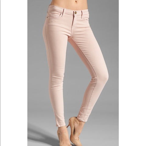 NEW CURRENT/ELLIOTT BOYFRIEND Jean Pant 27 ROSE SMOKE DESTROY Pink NWT