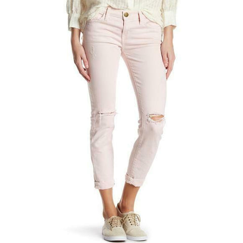 NEW CURRENT/ELLIOTT BOYFRIEND Jean Pant 28 ROSE SMOKE DESTROY Pink NWT