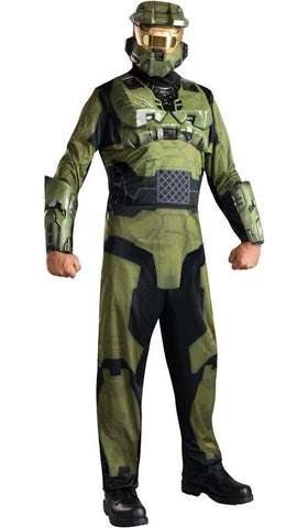Adult HALO 3 MASTER CHIEF Costume Mask Halloween XL Cosplay Disguise Unisex Rubie's Mens
