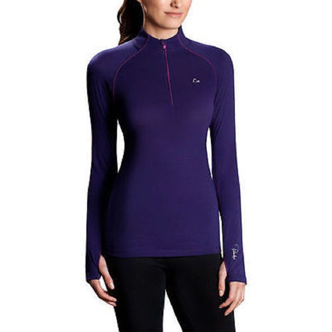 NEW NIB Womens Paradox Performance Base Layer Fitness Workout Yoga Top M PURPLE ASTRAL
