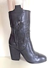 Womens MODERN VINTAGE THEO Western Cowboy Leather Cowgirl BOOT 6.5 Black ROCKER Buckaroo
