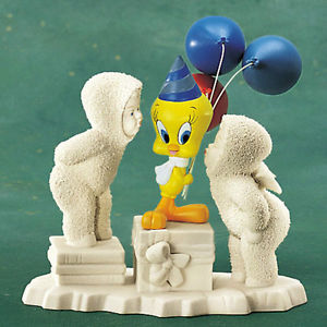 NEW Dept. 56 Snowbabies Looney Tunes Tweety Bird A Kiss For You and 2000 Too