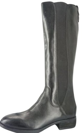Womens SAM EDELMAN PARADOX Leather Riding Gogo BOOTS BLACK 8.5 Rocker Tall