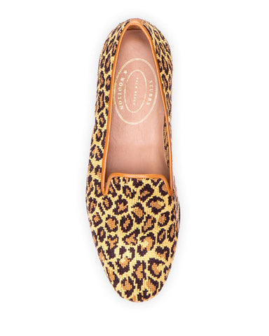 NEW Stubbs & Wootton JANE TRUE Needlepoint CHEETAH Slipper 6.5 Shoe LEOPARD