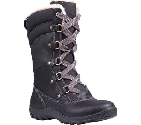 Womens TIMBERLAND 8709R Earthkeepers Mount Hope Mid Leather/Fabric BOOT 11 Black