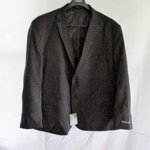 NEW MENS VITTORIO ST. ANGELO JACKET Sport Coat BLAZER Black 56R Single Breasted